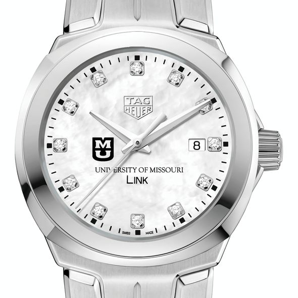 University of Missouri TAG Heuer Diamond Dial LINK for Women