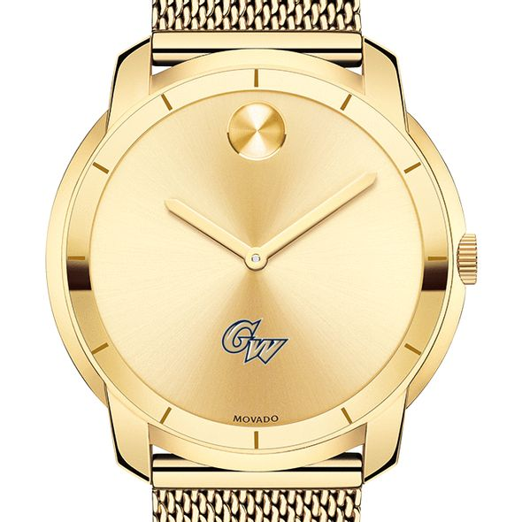 George Washington University Men's Movado Gold Bold 44