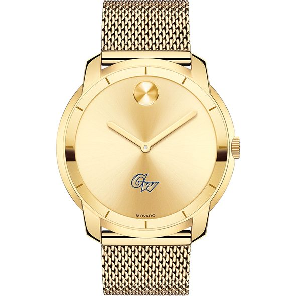 George Washington University Men's Movado Gold Bold 44 - Image 2