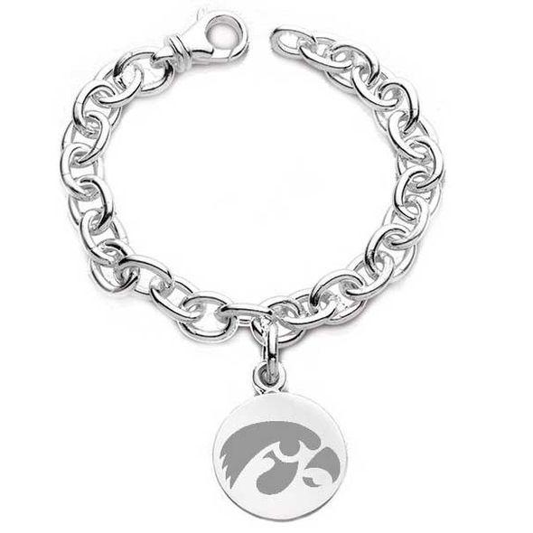 University of Iowa Sterling Silver Charm Bracelet