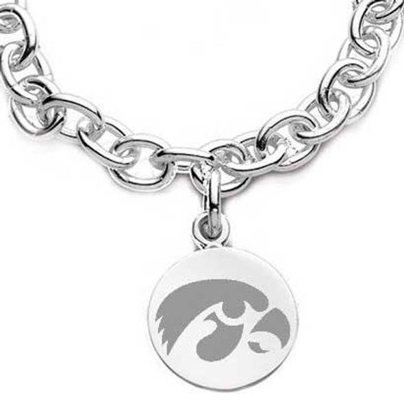 University of Iowa Sterling Silver Charm Bracelet - Image 2