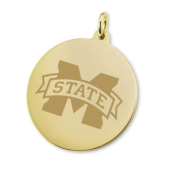 MS State 14K Gold Charm