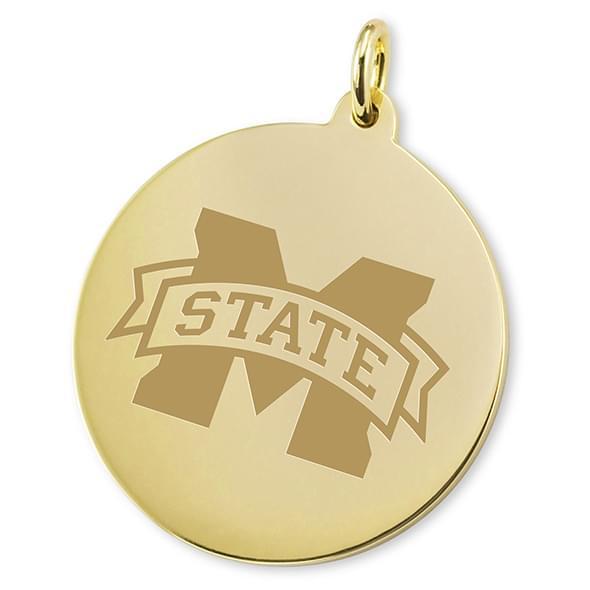 Mississippi State 14K Gold Charm - Image 2