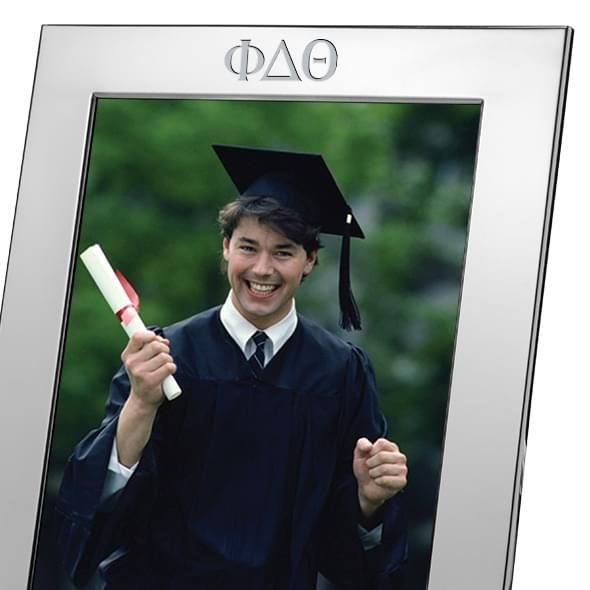 Phi Delta Theta Polished Pewter 8x10 Picture Frame - Image 2
