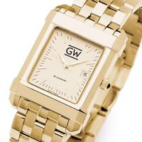 George Washington Men's Gold Quad with Bracelet