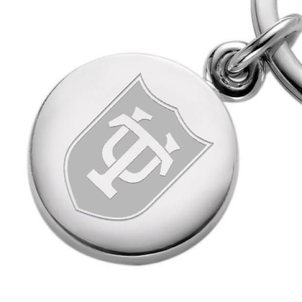 Tulane Sterling Silver Insignia Key Ring - Image 2