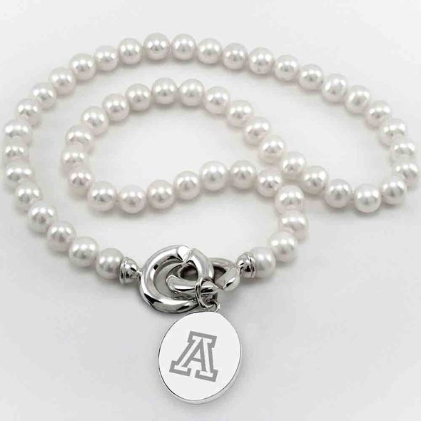 University of Arizona Pearl Necklace with Sterling Silver Charm