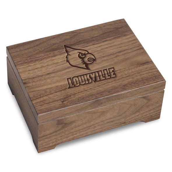 University of Louisville Solid Walnut Desk Box