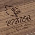 University of Louisville Solid Walnut Desk Box - Image 3