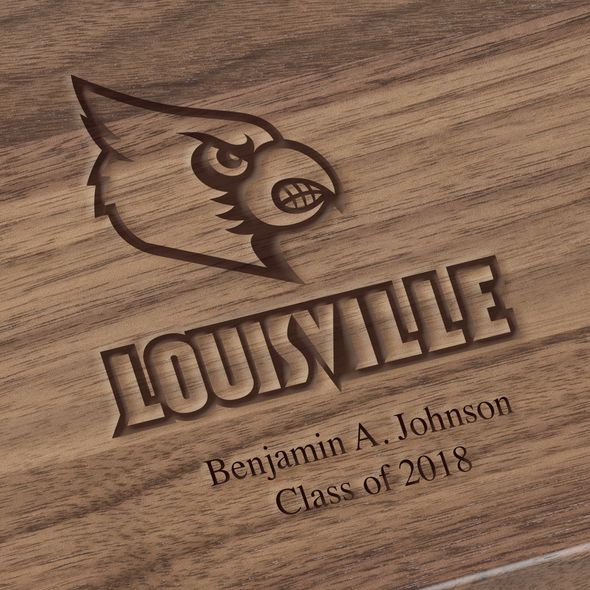University of Louisville Solid Walnut Desk Box - Image 3