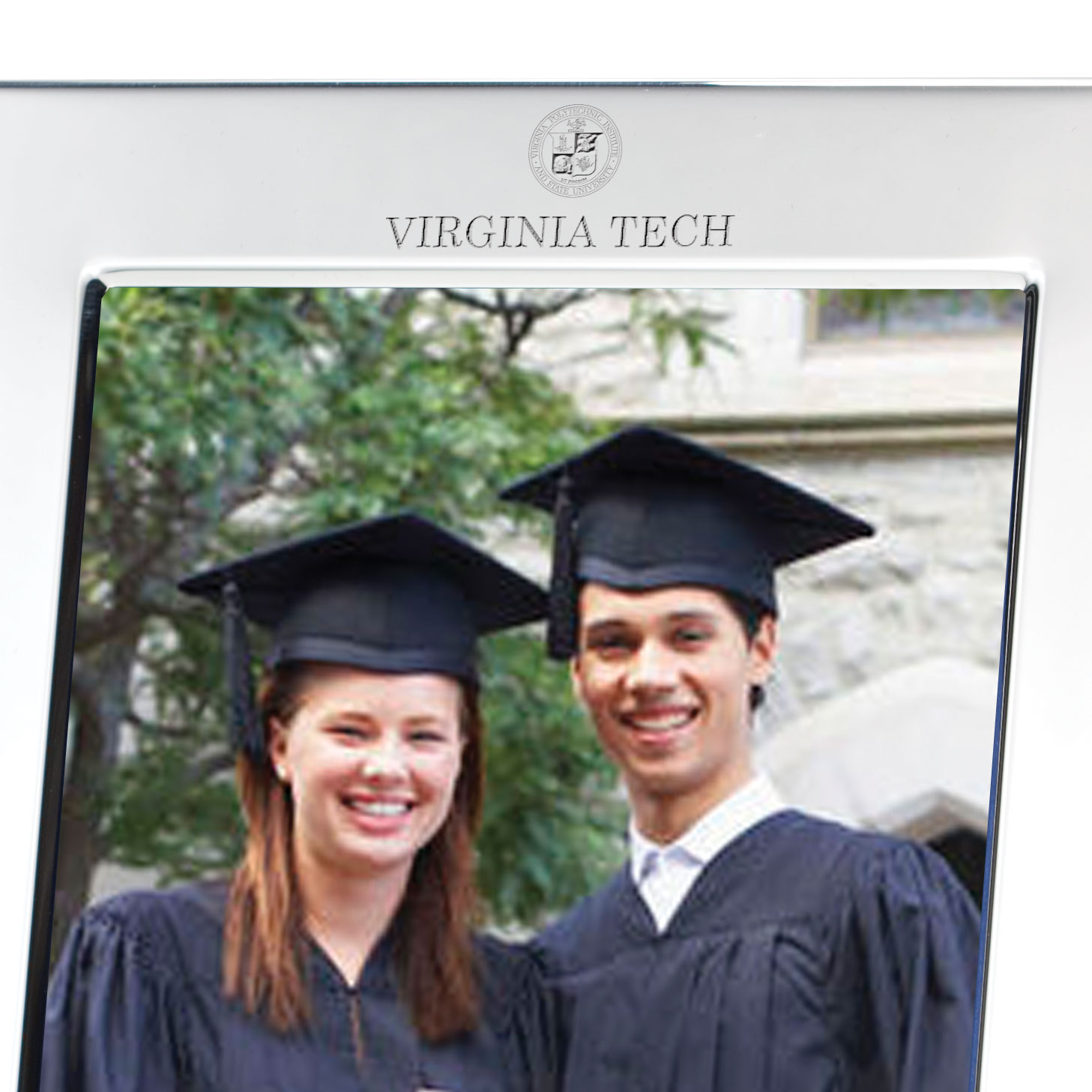 Virginia Tech Polished Pewter 5x7 Picture Frame - Image 2