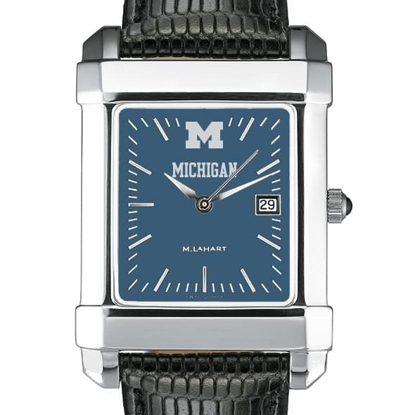 Michigan Men's Blue Quad Watch with Leather Strap - Image 1