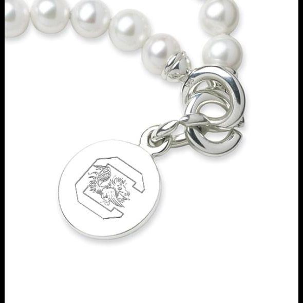 South Carolina Pearl Bracelet with Sterling Silver Charm - Image 2