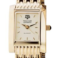 Texas A&M Women's Gold Quad Watch with Bracelet