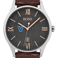 Villanova University Men's BOSS Classic with Leather Strap from M.LaHart