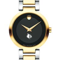 University of Louisville Women's Movado Two-Tone Modern Classic Museum with Bracelet