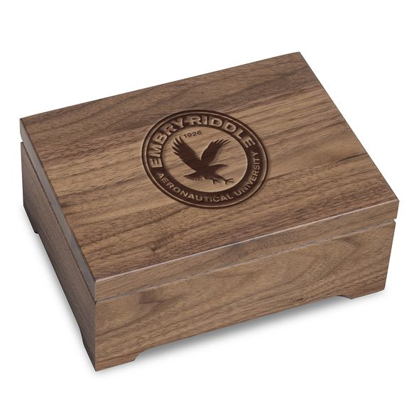 Embry-Riddle Solid Walnut Desk Box