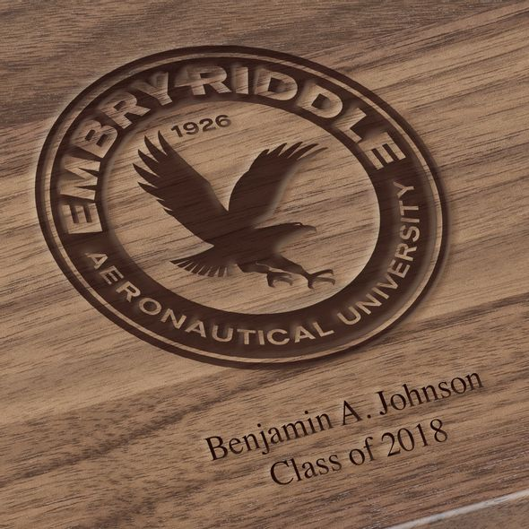 Embry-Riddle Solid Walnut Desk Box - Image 3