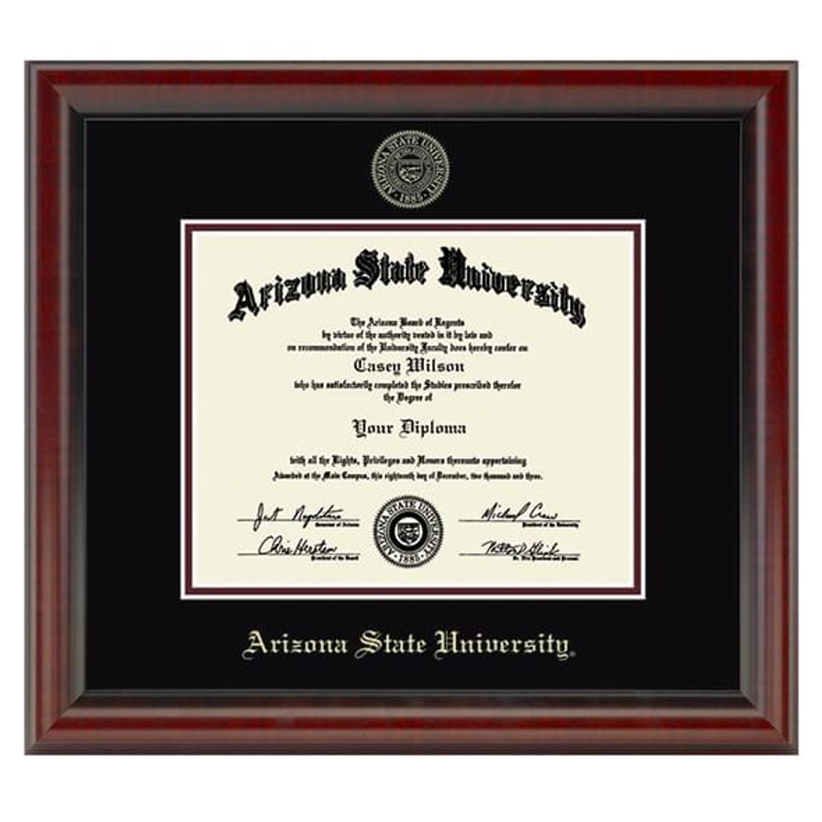 Official Arizona State Diploma Frame The Fidelitas