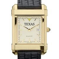 Texas Men's Gold Quad Watch with Leather Strap