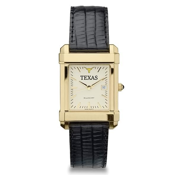 Texas Men's Gold Quad Watch with Leather Strap - Image 2