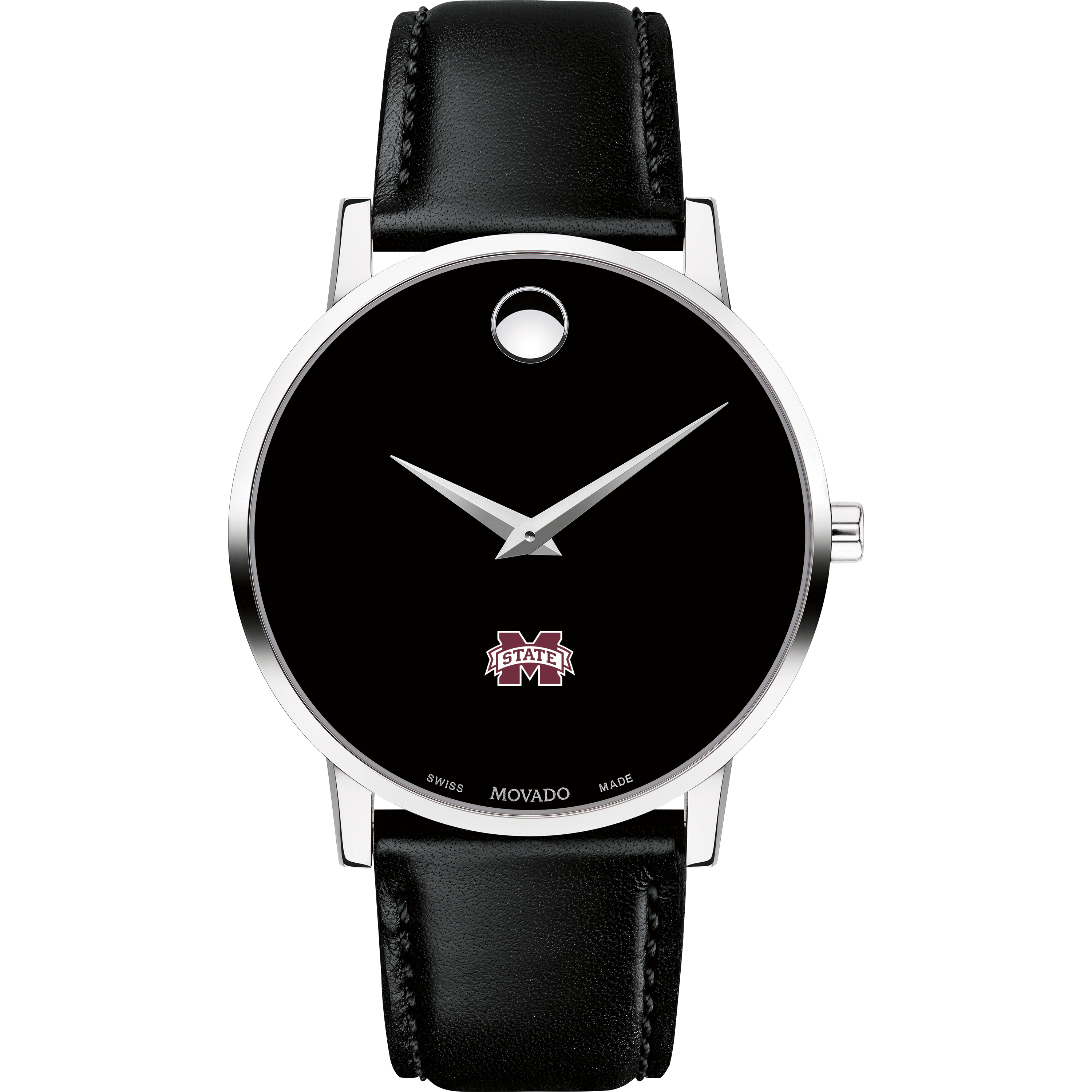 Mississippi State Men's Movado Museum with Leather Strap - Image 2