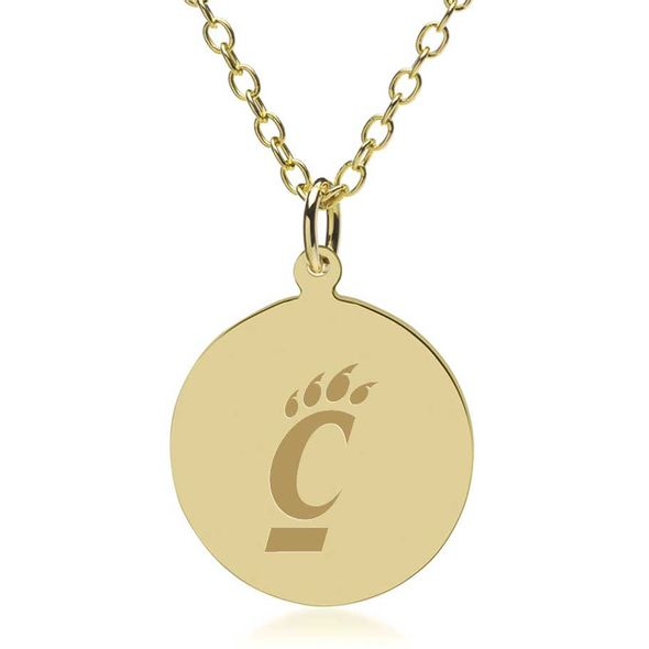 Cincinnati 14K Gold Pendant & Chain - Image 1