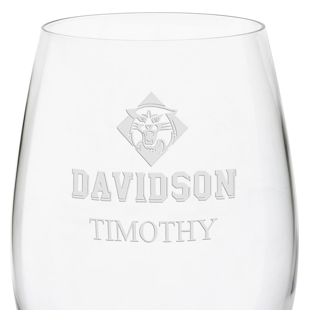 Davidson College Red Wine Glasses - Set of 4 - Image 3