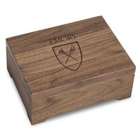 Emory University Solid Walnut Desk Box