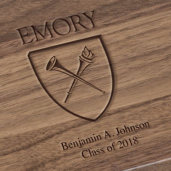 Emory University Solid Walnut Desk Box - Image 3