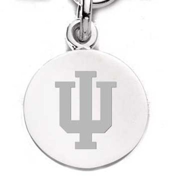 Indiana University Sterling Silver Charm - Image 1
