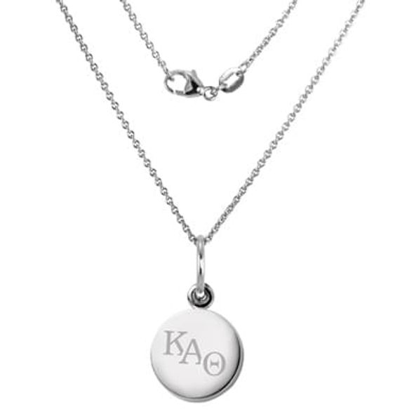 Kappa Alpha Theta Sterling Silver Necklace with Silver Charm