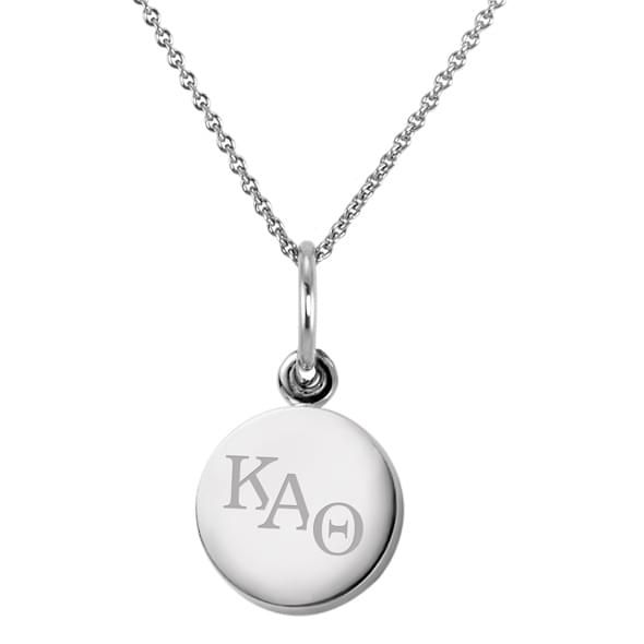 Kappa Alpha Theta Sterling Silver Necklace with Silver Charm - Image 2