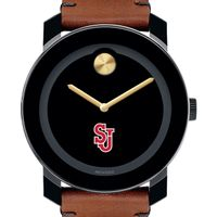 St. John's University Men's Movado BOLD with Brown Leather Strap