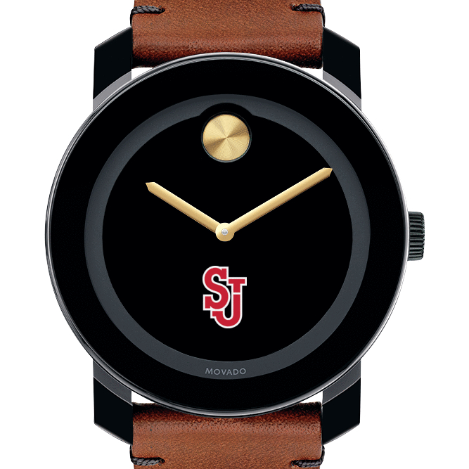 St. John's University M's Movado BOLD w/ Brown Leather Strap - Image 1