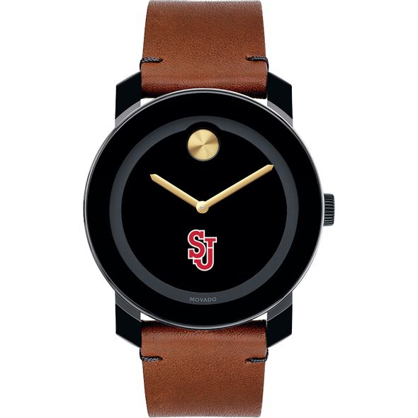 St. John's University Men's Movado BOLD with Brown Leather Strap - Image 2