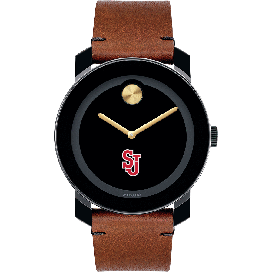 St. John's University M's Movado BOLD w/ Brown Leather Strap - Image 2