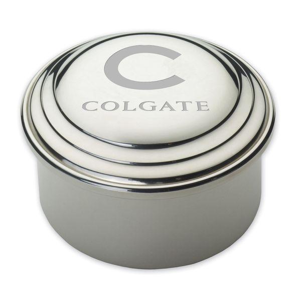 Colgate Pewter Keepsake Box