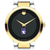 Northwestern University Men's Movado Two-Tone Modern Classic Museum with Bracelet