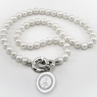Merchant Marine Academy Pearl Necklace with Sterling Silver Charm