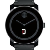 Davidson College Men's Movado BOLD with Leather Strap