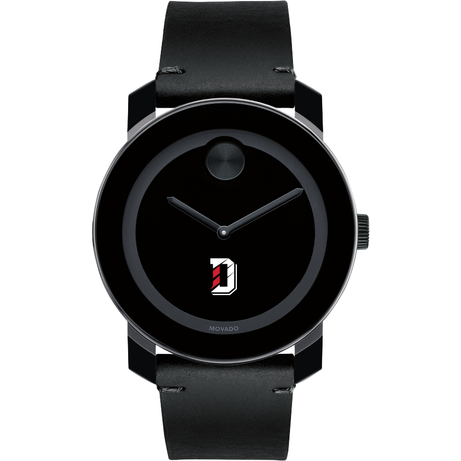 Davidson College Men's Movado BOLD with Leather Strap - Image 2