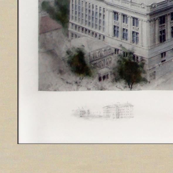Historic Brown University Watercolor Print - Image 2