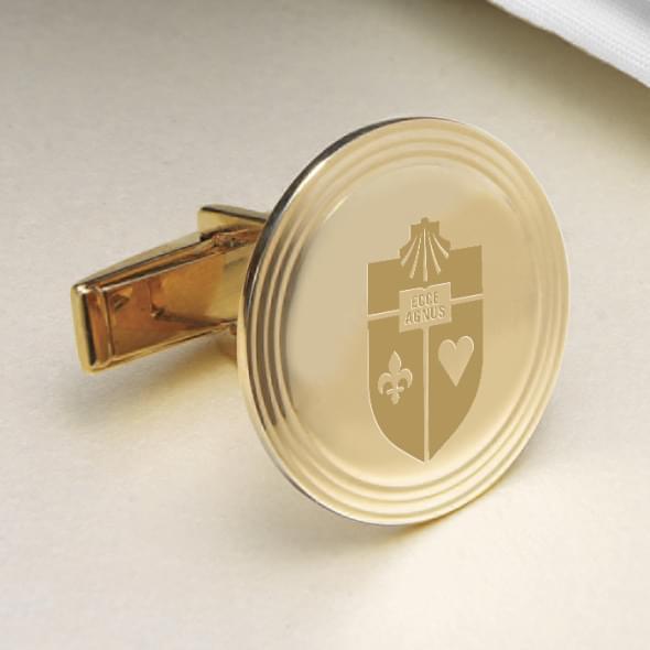 St. John's 18K Gold Cufflinks - Image 2