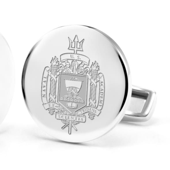 US Naval Academy Cufflinks in Sterling Silver - Image 2