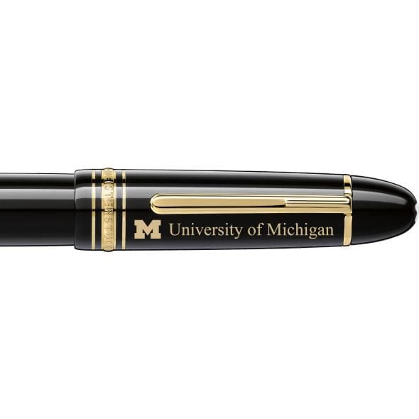 University of Michigan Montblanc Meisterstück 149 Fountain Pen in Gold - Image 2