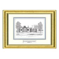George Washington Black Ink Gold Frame