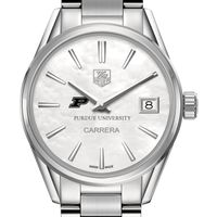 Purdue University Women's TAG Heuer Steel Carrera with MOP Dial