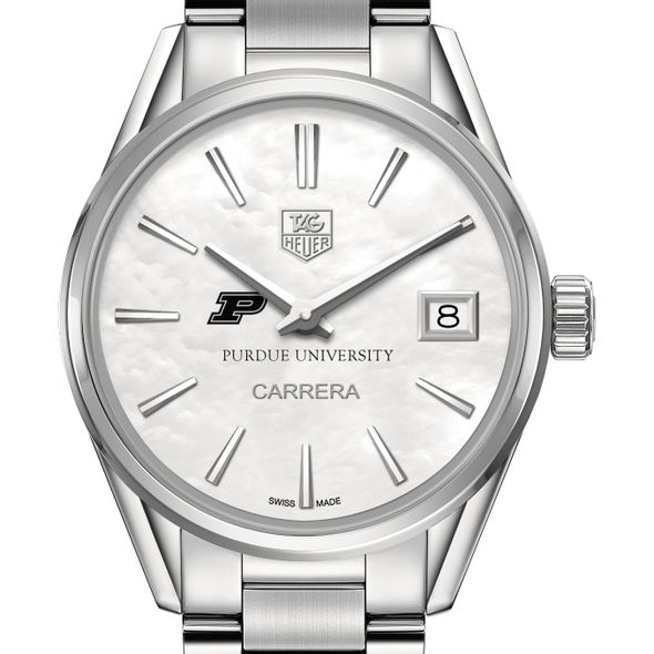 Purdue University Women's TAG Heuer Steel Carrera with MOP Dial - Image 1
