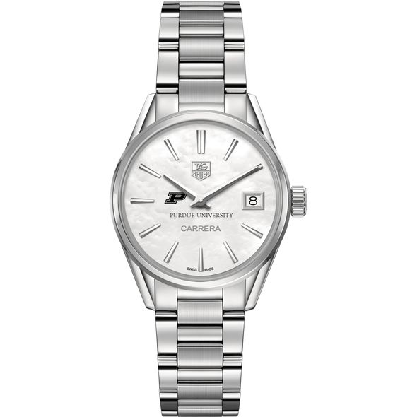 Purdue University Women's TAG Heuer Steel Carrera with MOP Dial - Image 2